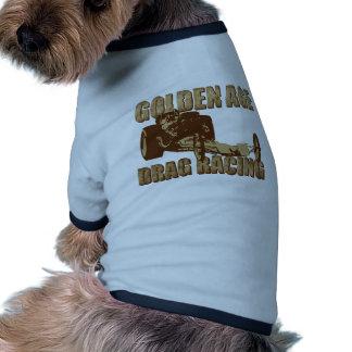 golden age drag racing digger dragster pet tee shirt