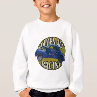 Golden Age Willys Gasser Drag Racing Blue and Gold Sweatshirt