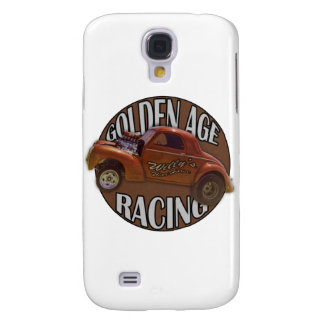 Golden Age Willys Gasser Drag Racing Patina Samsung Galaxy S4 Case