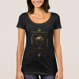 Golden Alchemy Sacred Geometry Scoop Neck T-Shirt