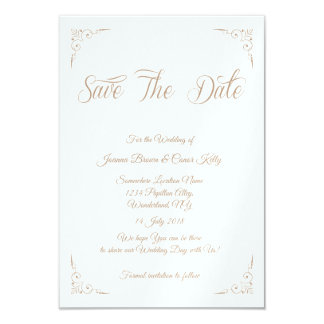 'Golden Alley' Save The Date design Card