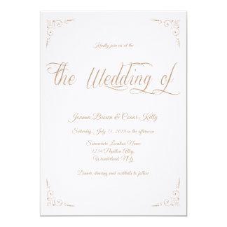 'Golden Alley' Wedding Invitation Design