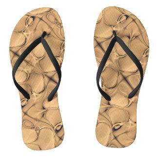 Golden  Alligator Flip Flops