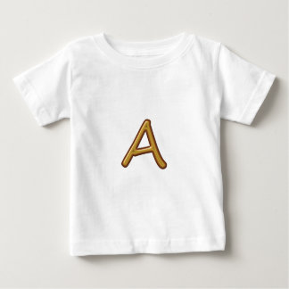 Golden Alphabet A AA AAA : Vintage Base Baby T-Shirt