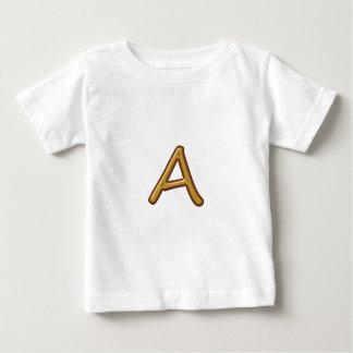 Golden Alphabet A AA AAA : Vintage Base Tee Shirt