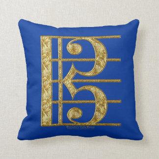 Golden Alto Clef Cushion