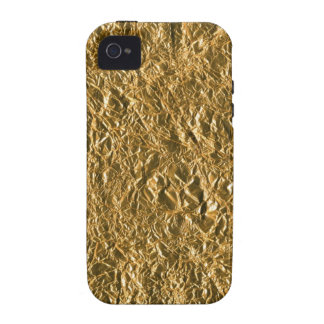 Golden Aluminium Background Case-Mate iPhone 4 Cover