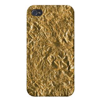 Golden Aluminium Background Cover For iPhone 4