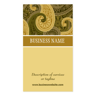 Golden Amber Paisley Trimming Business Card