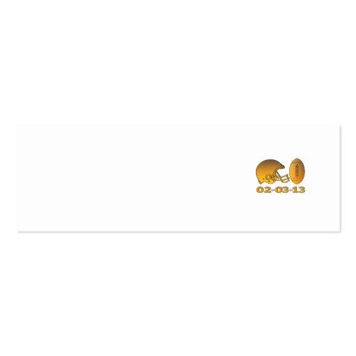 golden american football helmet ball 2013 business card templates