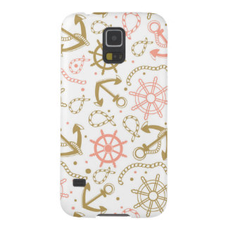 Golden Anchor Pattern Galaxy S5 Cover