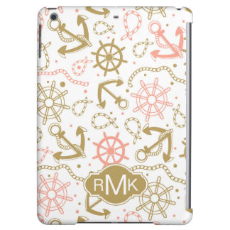 Golden Anchor Pattern | Monogram