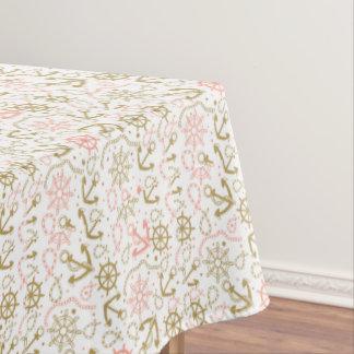 Golden Anchor Pattern Tablecloth