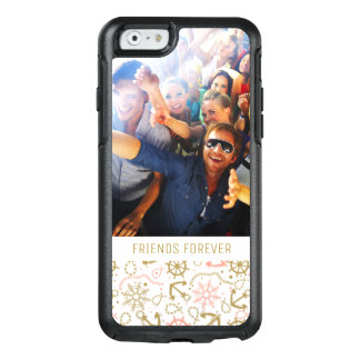 Golden Anchor Pattern | Your Photo & Text OtterBox iPhone 6/6s Case