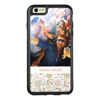 Golden Anchor Pattern   Your Photo & Text OtterBox iPhone 6/6s Plus Case