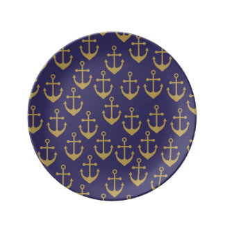 golden anchor porcelain  plate