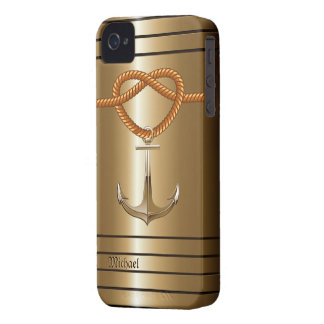 Golden Anchor Sailor's Blackberry Bold Case