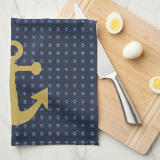 Golden Anchor's-Navy-Double Images-_Dish_Towels_ Tea Towel