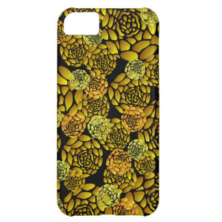 Golden and Black Chrysanthemums iPhone5 Case