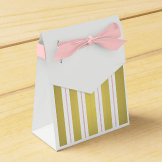 Golden and pink stripes favour box