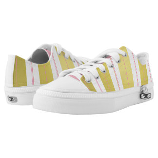 Golden and pink stripes low tops