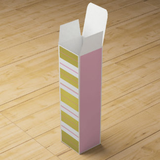 Golden and pink stripes wine box