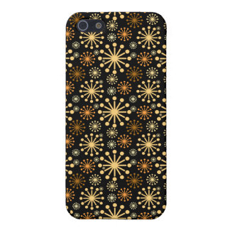 Golden and Silver Snowflakes Pattern Festive Case For iPhone 5/5S