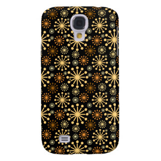 Golden and Silver Snowflakes Pattern Festive Galaxy S4 Case