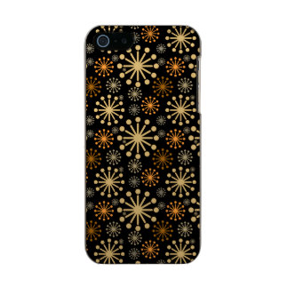 Golden and Silver Snowflakes Pattern Festive Incipio Feather® Shine iPhone 5 Case