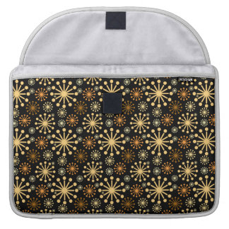 Golden and Silver Snowflakes Pattern Festive Sleeve For MacBooks