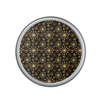 Golden and Silver Snowflakes Pattern Festive Speaker