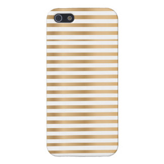 Golden and white stripe iphone case iPhone 5/5S cover
