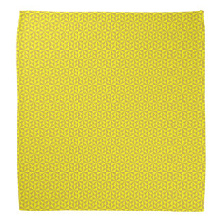 Golden and yellow triangles pattern bandana