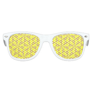 Golden and yellow triangles pattern kids sunglasses