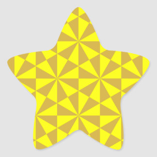 Golden and yellow triangles pattern star sticker