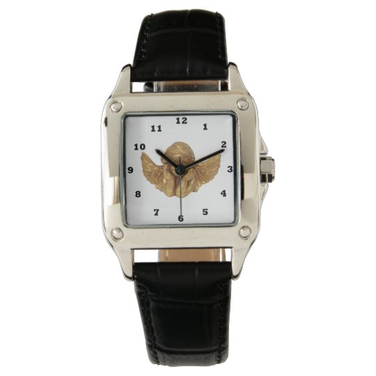 Golden Angel Beautiful Religious wrist watch