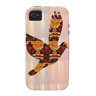 Golden ANGEL on Feathers ANGEL BIRD Goodluck gift Case For The iPhone 4