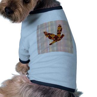 Golden ANGEL on Feathers ANGEL BIRD Goodluck gift Pet Tshirt