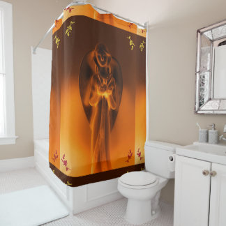Golden Angel printed Shower Curtain