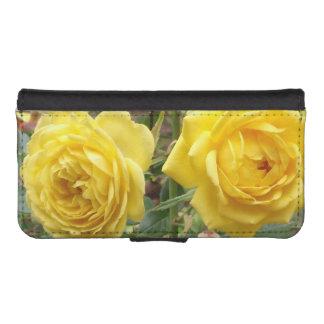 golden angel roses phone wallet case