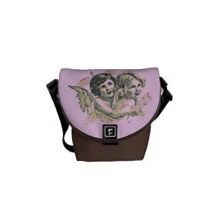 Golden Angels Pink & Brown Mini Messenger Bag
