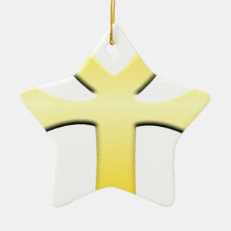 Golden Ankh Ceramic Star Decoration