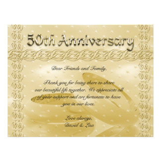 Golden Anniversary Bands Of Love 21.5 Cm X 28 Cm Flyer
