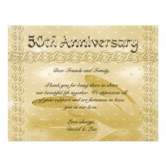 Golden Anniversary Bands Of Love Set Custom Flyer