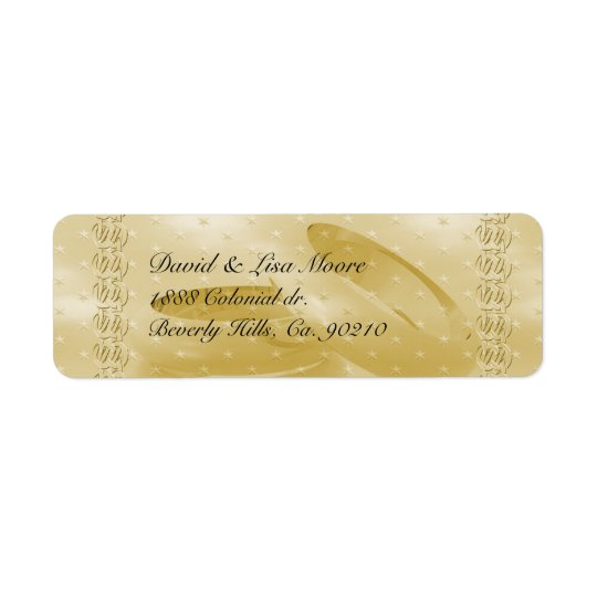 Golden Anniversary Bands Of Love Set Return Address Label