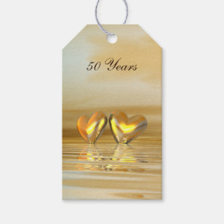 Golden Anniversary Hearts Gift Tags