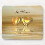 Golden Anniversary Hearts Mousemats