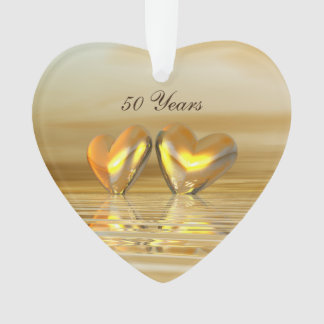 Golden Anniversary Hearts Ornament