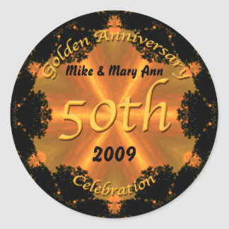 Golden Anniversary Sticker