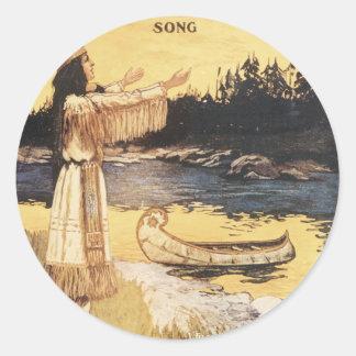 Golden Arrow Song Classic Round Sticker